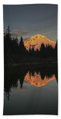 Mt Hood Alpenglow II Beach Towel