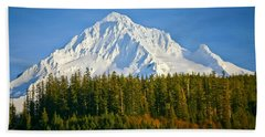 Mt Hood In Winter Beach Towel