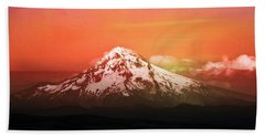 Beach Towel featuring the photograph Mt Hood Oregon Sunset by Aaron Berg