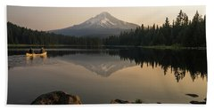 Mt Hood Sunrise  Beach Towel