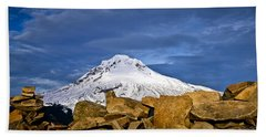 Mt Hood With Talus Beach Towel