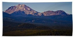 Mt Lassen And Chaos Crags Beach Sheet
