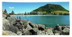 Mt Maunganui Beach 11 - Tauranga New Zealand Beach Towel