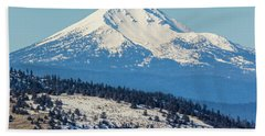 Beach Towel featuring the photograph Mt. Mcloughlin by Marc Crumpler