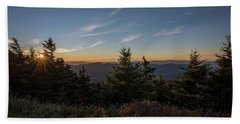 Beach Sheet featuring the photograph Mt Mitchell Sunset North Carolina 2016 by Terry DeLuco