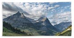 Mt. Oberlin From Logan Pass Beach Towel