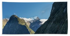 Beach Towel featuring the photograph Mt Pembroke Glacier by Gary Eason