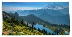Mt. Rainier And Eunice Lake Beach Towel