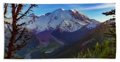 Mt Rainier At Emmons Glacier Beach Towel