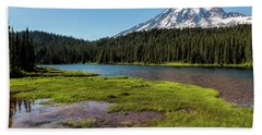 Mt Rainier From Reflection Lake, No. 2 Beach Towel