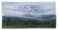 Mt. Rainier Beach Towel by Patti Deters