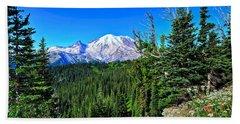 Mt. Rainier Wildflowers Beach Sheet