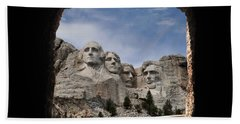 Beach Towel featuring the photograph Mt Rushmore Tunnel by David Lawson