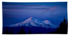 Mt Shasta At Sunrise Beach Towel