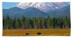 Mt. Shasta Morning Beach Towel
