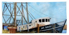 Mt. Sinai Fishing Boat Beach Towel