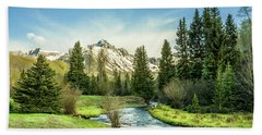 Mt. Sneffels Peak Beach Towel