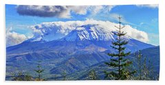 Mt. St. Helens Fall Beach Towel