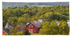 Mt View Farm In Summer Beach Sheet by Tim Kirchoff