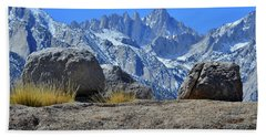 Mt. Whitney - Highest Point In The Lower 48 States Beach Sheet