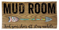 Beach Towel featuring the digital art Mud Room-a by Jean Plout
