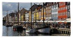Beach Towel featuring the photograph Mug - Nyhavn by Inge Riis McDonald