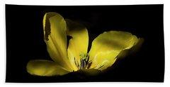 Beach Towel featuring the photograph Mug - Yellow Tulip by Inge Riis McDonald