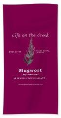 Mugwort - White Text Beach Sheet