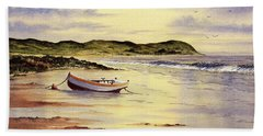 Beach Sheet featuring the painting Mull Of Kintyre Scotland by Bill Holkham