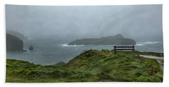 Beach Towel featuring the photograph Mullion Cove by Brian Roscorla