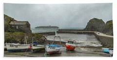 Beach Towel featuring the photograph Mullion Cove Harbour by Brian Roscorla