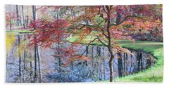 Multi Color Japanese Maple Beach Towel