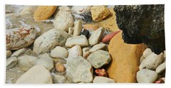 multi colored Beach rocks Beach Sheet