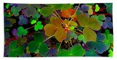 Multi-coloured Leaves Beach Sheet