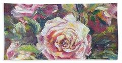 Multi-hue And Petal Rose. Beach Towel