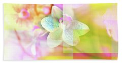 Multicolor Orchids Beach Towel
