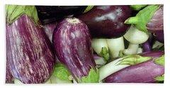 Multicolored Eggplants Beach Sheet