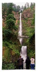Multnomah Falls, Columbia River Gorge, Or Beach Towel