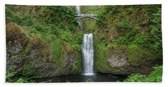 Beach Sheet featuring the photograph Multnomah Falls In Spring by Greg Nyquist