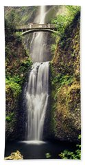 Multnomah Falls Lower Beach Towel