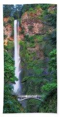 Multnomah Falls Portland Oregon Beach Towel