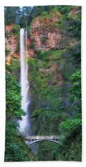 Multnomah Falls Portland Oregon Beach Towel