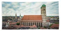Munich - Frauenkirche Beach Towel