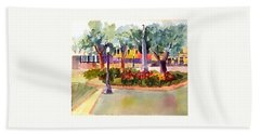 Munn Park, Lakeland, Fl Beach Towel by Larry Hamilton