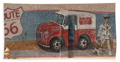 Mural On Historic Route 66 Beach Towel