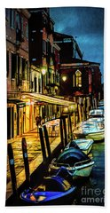 Murano At Night. Beach Towel