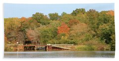 Murphy Mill Dam/bridge Beach Towel by Jerry Battle