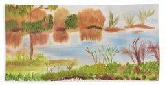 Muscle Shoals Singing Waters Beach Towel by Meryl Goudey