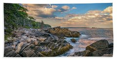 Muscongus Bay Beach Towel by Rick Berk