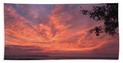 Muscongus Sound Sunrise Beach Towel